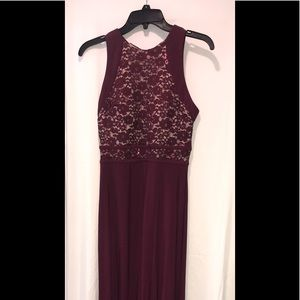 A wine colored size 8 homecoming or prom dress